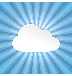 Paper cloud background vector image vector image