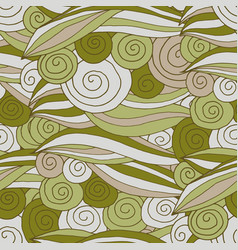 seamless pattern swirl and line vector image