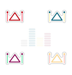 set of color label design collection of musical vector image