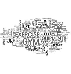 Why home exercise equipment is better than a gym vector