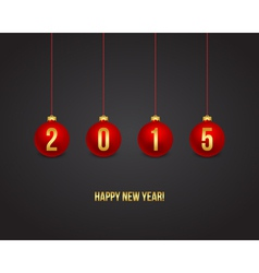2015 New year background balls vector image vector image