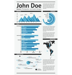 Simple template resume vector image