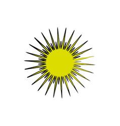 sun burst element icon vector image vector image
