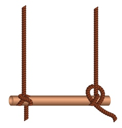 Wood Stick on a Rope vector image vector image