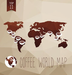 Coffee map vector image vector image