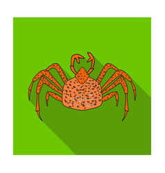 king crab icon in flat style isolated on white vector image vector image