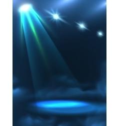 Blue Green Light Beam Background Banner vector image vector image