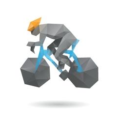 Racing cyclist abstract vector image vector image