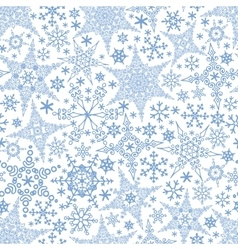 Snowflakes seamless patternWinter crystal stars vector image vector image