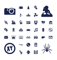 37 modern icons vector