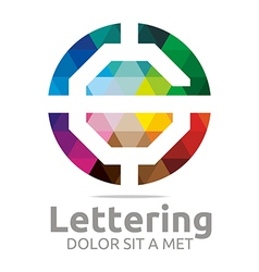 Abstract Logo Lettering G Rainbow Alphabet Design vector