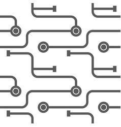 abstract microchip scheme vector image