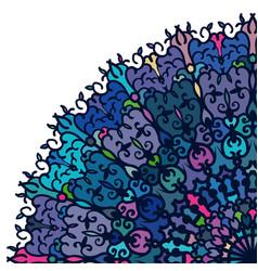 Abstract postcard design colorful floral mandala vector