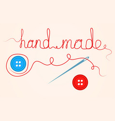 Accessories for sewing handmade design element vector