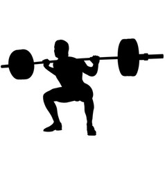 Athlete powerlifter squat in powerliftin vector
