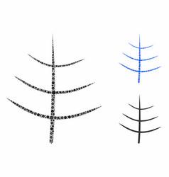 bare tree mosaic icon circles vector image