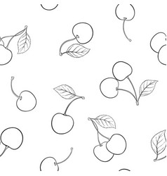 beautiful seamless pattern cartoon black and vector image