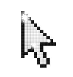 Black outline pixelated cursor arrow vector