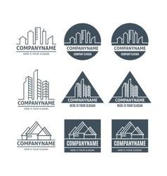 Building home logo vector