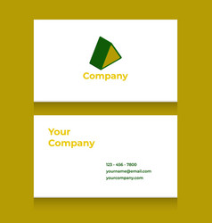 Business card template with triangle logo vector
