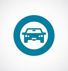 Car icon bold blue circle border vector