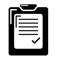 check list icon simple black style vector image