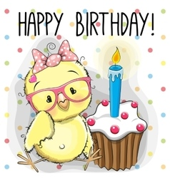 Chicken with cake vector