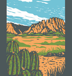 Chihuahuan desert covering parts big bend vector