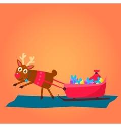 Christmas deer characters vector