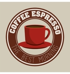 coffee espresso and cup label graphic vector image