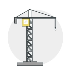 Crane of Under construction concept vector