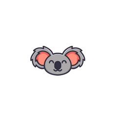 cute bear head mascot logo designs vector image