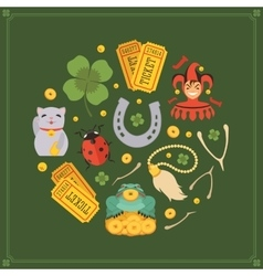Decorating design made of Lucky Charms vector