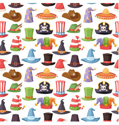 Different funny hats for party and holidays vector
