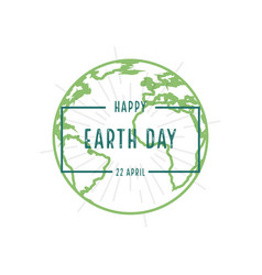 earth day for happy earth day in flat style 22 vector image