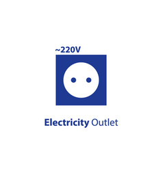 Electricity outlet 220 voltage point vector