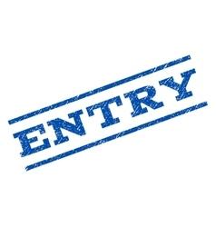 Entry Watermark Stamp vector image