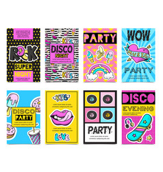 Fashion patch badges banner set vector