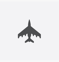 fighter outline icon vector image