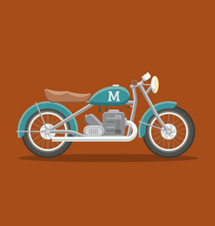 flat motorcycle image vector image