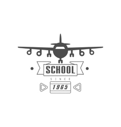 Flying School Emblem Design vector