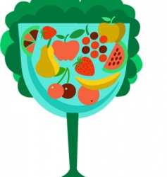 fruits in glass vector image
