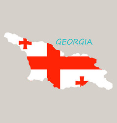 georgia map with flag vector image