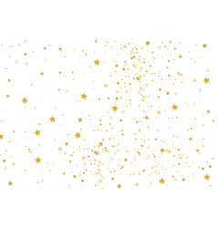 Gold glitter and stars vector
