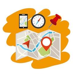 gps tech design vector image