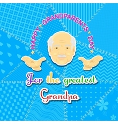 Grandfather and grandmother day vector image
