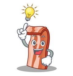 have an idea bacon mascot cartoon style vector image