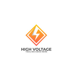 high voltage template vector image