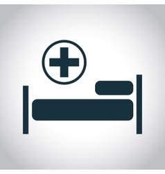 Hospital flat black icon vector