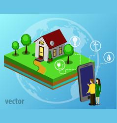 house design style modern vector image